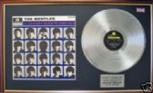 THE BEATLES - A HARD DAYS NIGHT  Platinum disc & cover